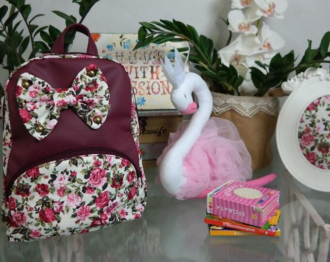 Baby School Burgundy Fairy Backpack