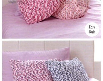 King Cole Knitting Pattern 4542~Quick & Easy Cushions~Chunky