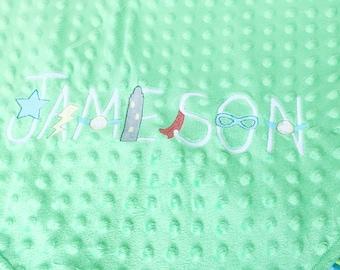 Personalized Blanket, Superhero, Baby Blanket, Baby Superhero Gift, Baby Boy Gift, Superhero Blanket, Baby Name Blanket, Personalized Gift