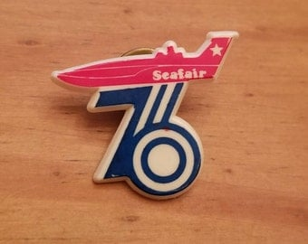 1976 Seattle Seafair Festival bicentennial pinback
