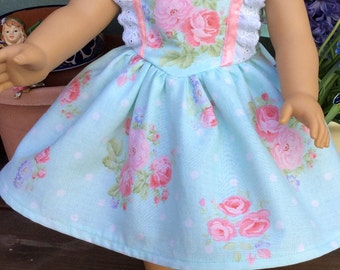 """SWEETHEART NECK DRESS Fits American Girl and 18"""" Dolls"""
