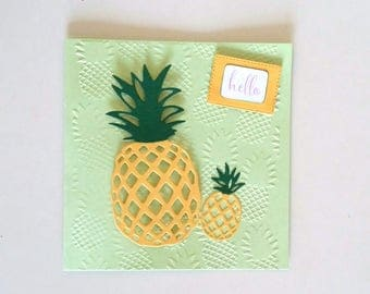 Pineapple with pineapple design MLP card envelope card
