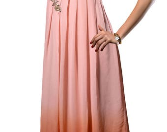 Indian Pakistan Kurti Kurta  Top Tunic Bollywood  Dusty Pink Color Georgette Dress