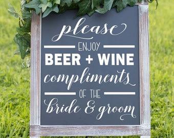 Open Bar Sign - Wedding Bar Sign - Wedding Sign - Open Bar - Wedding Signage - Bar Sign - Wedding Open Bar - Wedding Decor - Wedding Signs