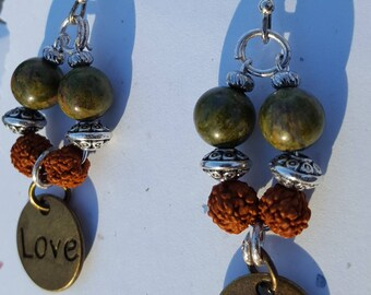 Rudraksha Love earrings