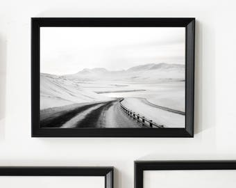 On the Winter Road/ Home Decor/ Gift/ Travel /Print / Wall Art / Unique/ Adventure/ Wanderlust / Digital /Fine Art/ Europe/ Iceland