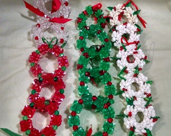 Beautiful Beaded Vintage Christmas Ornaments