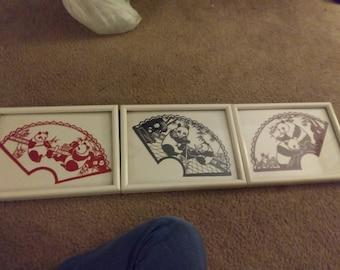 Cut Paper Art - Lot of 5