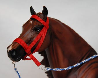 Breyer/Peter Stone Traditional 1:9 Scale Grosgrain Model Horse Crossunder Bitless Bridle REINS ARE SEPERATE