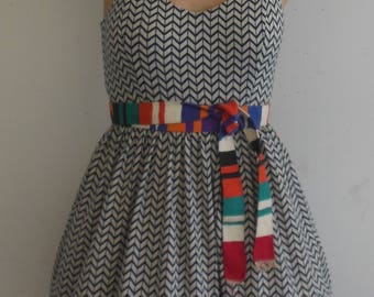 Colorful handwoven vintange animal pattern belt from the 1970s