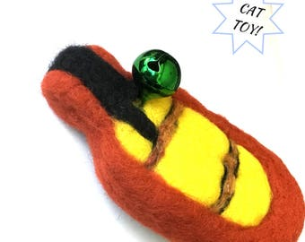 Rubber Ducky Cat Toy, Needle feted Cat Toy, Catnip Cat Toy with Bell, Cat Things, Cat Stuff, Collectors Sculptures, Cat Lovers Gift