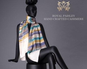 Pashmina Scarf Hand loom Woven Zig Zag Design