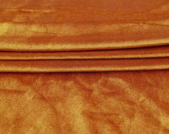 """Stretch Velvet Fabric, Rust Orange Fabric, Indian Decor, Quilt Fabric, 63"""" Inch Wide Fabric By The Yard ZVE125A"""