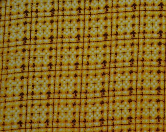 """Ethnic Fabric, Tie Dyed Print, Yellow Fabric, Quilting Cotton, Sewing Supplies, 44"""" Inch Cotton Fabric By The Yard ZBC8499D"""
