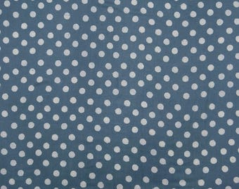 "Upholstery Fabric, Polka Dot Print, Blue Fabric, Decor Fabric, Sewing Crafts, 44"" Inch Cotton Fabric By The Yard ZBC8739A"