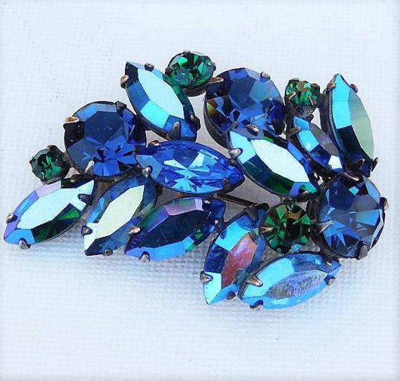 REGENCY Rhinestone Brooch / Mid Century Designer Fashion Jewelry