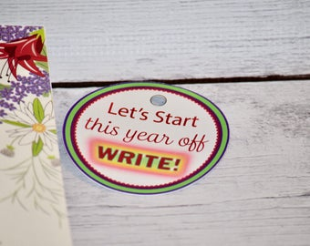 Tag set of 6 - JW Pioneer School gifts - JW pioneer school - JW Pioneer gifts - Let's Start This Year Off Write - Jw Tags