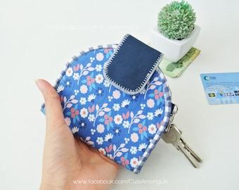 Floral Kimono Card Holder Wallet, Bi-fold Wallet, Organizer Wallet, Keychain Wallet, Fold Over Wallet, Change Purse, Gift for Her