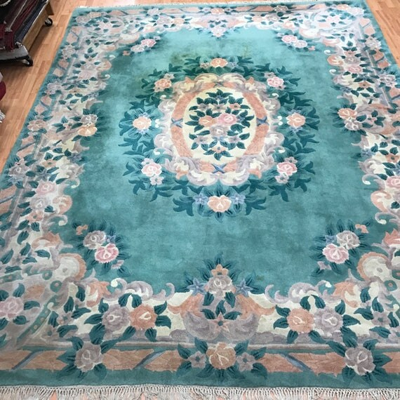 """8' x 10'3"""" Chinese Aubusson Oriental Rug - Hand Made - 100% Wool"""