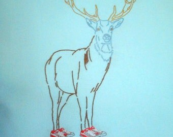 Be Brave Deer Embroidery Pattern