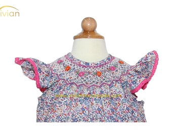 D17.41 - Hand smocked liberty cotton dress