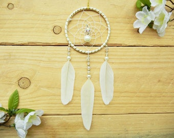 Gold Dream Catcher for Car: Bohemian Car Accessory, Jeep Wrangler Accessories, Car Bling, Small Dream Catcher, Car Accessories Interior