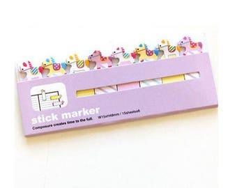 Kawaii Horse Sticky Notes / Cute Horse Sticky Notes / Cute Stationery / Kawaii Stationery / Cute School Supplies / Korean Stationery / Pony