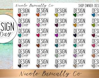 Shop Owner- Design Day Planner Stickers