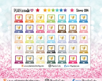 Rainbow Laptop Stickers, Planner Stickers -084