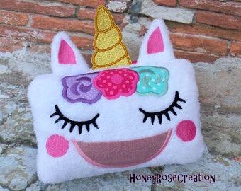 Unicorn Tooth fairy pillow.Unicorn pillow.