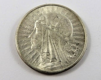 Poland 1932 Silver 10 Zlotych Coin. London Mint