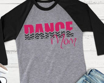 Dance Mom SVG - Dance SVG - Chevron SVG - Dance Mom Shirt - Mom svg - Dance Team svg - Files for Silhouette Studio/Cricut Design Space
