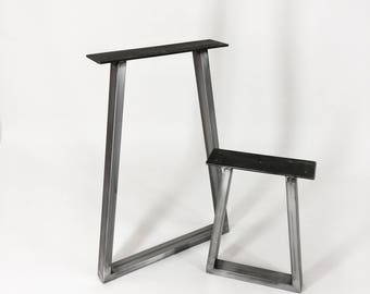 Trapezium Shaped Box Steel Table Legs