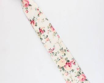 "Boys Floral Skinny Tie 2.3""   Clip On Tie   Boys Tie   Boys Floral Tie   Flower Tie   Weddings   Ideas   For Him   Gift   Children   Kids"