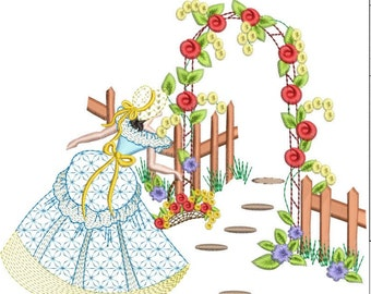 SOUTHERN BELLE machine embroidery download 3 diff sizes( 6x6  5x5  4x4)