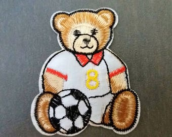 Escucheon 7cm teddy bear soccer player