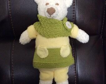 Knitted bear named Esme