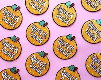 Queer Cutie Iron On Embroidered Patch - The Bettys x Over it Collab