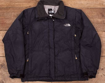 Womens Vintage North Face Navy Blue Goose Down Fill 600 Jacket Medium 10 R7112