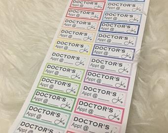 Doctor's Appointment Rainbow Planner Stickers | Erin Condren & Plum Paper Planner