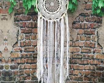 Bohemian dream catcher, Wedding dreamcatcher, Large dream catcher, Modern nursery wall, Mandala dreamcatcher, Baby shower decor