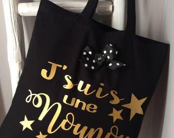 """Le tote bag  spécial  pour nounous """"en or"""""""