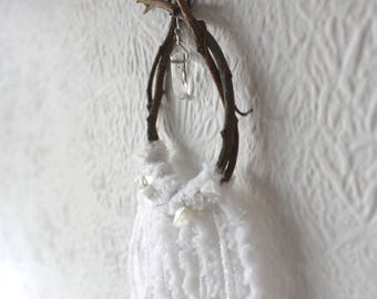 "Mini Wall Hanging Christmas Decoration ""White Christmas"""