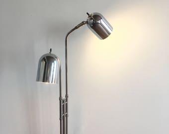 SOLD - Mid Century Modern Articulating Chrome Floor Lamp