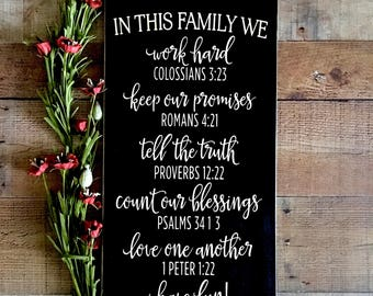 Bible Verse Wall Art,Bible Verse Wood Sign,Proverbs,Psalms,Wedding Gift,Quote Signs,Rustic Wood Wall Art,Rustic Home Decor,Newlywed Gifts