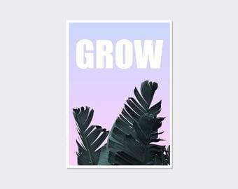 Foliage print, prints wall art, foliage art, foliage wall art, contemporary wall art, quote print, quote posters