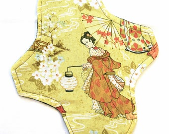 "Yellow Lantern Cloth Pad, custom cloth pad, geisha cloth pad, reusable cloth pad, 16"" pads available!"