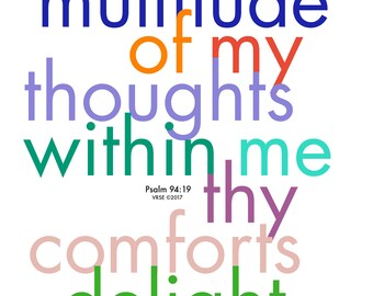 Psalm 94:19 POSTER