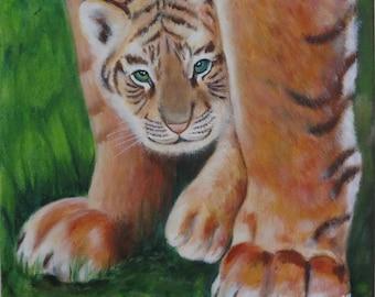 Baby tiger - Original painting