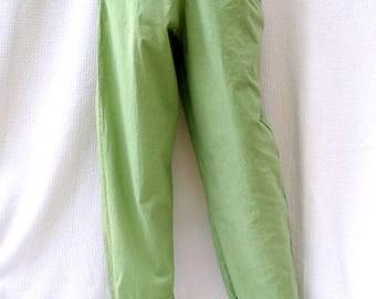 Indian pants, unisex pants, green Indian pants, ethnic pants, pants, Indian handicraft